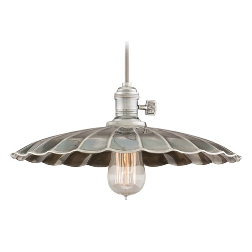 Hudson Valley Lighting Hudson Valley Lighting Heirloom Historic Nickel Pendant Light with Scalloped Shade 8002-HN-MM3