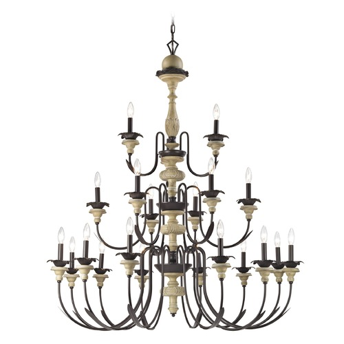 Elk Lighting Elk Lighting Channery Point Oil Rubbed Bronze, Aged Cream Chandelier 32222/12+6+3