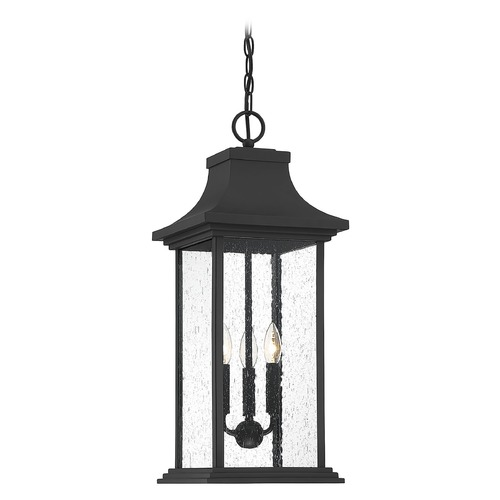 Savoy House Savoy House Lighting Hancock Matte Black Outdoor Hanging Light 5-453-BK