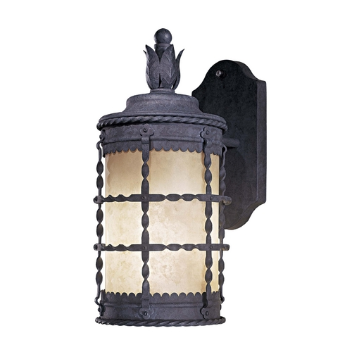Minka Lavery Outdoor Wall Light with Beige / Cream Glass in Bronze Finish 8880-A61