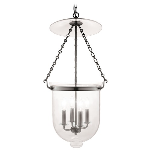 Hudson Valley Lighting Pendant Light with Clear Glass in Historic Nickel Finish 255-HN-C1