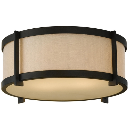 Feiss Lighting Modern Flushmount Lights in Oil Rubbed Bronze Finish FM335ORB