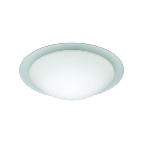 Besa Lighting Flushmount Light with White Glass 977025C