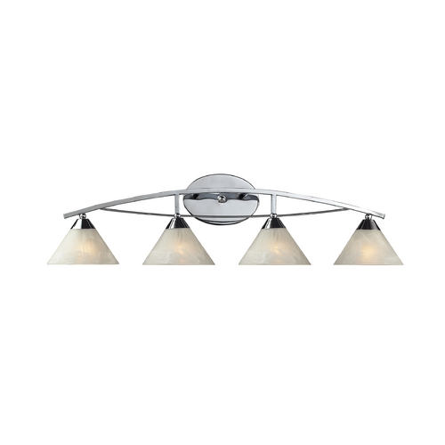 Elk Lighting Modern Bathroom Light with White Glass in Polished Chrome Finish 17024/4