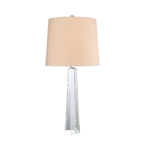 Hudson Valley Lighting Modern Table Lamp with White Shade in Polished Nickel Finish L885-PN-WS