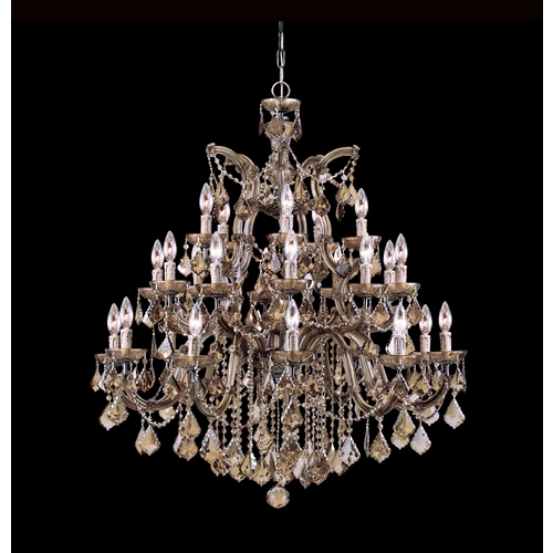 Crystorama Lighting Crystal Chandelier in Antique Brass Finish 4470-AB-GTS