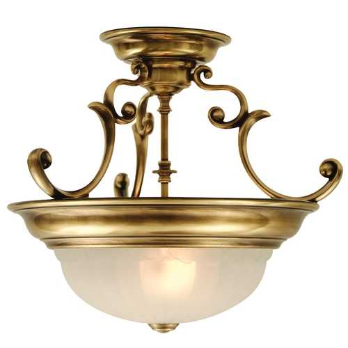 Dolan Designs Lighting Two-Light Semi-Flush Ceiling Light 524-18