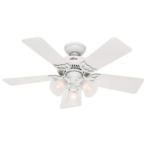 Hunter Fan Company Hunter Fan Company Southern Breeze White Ceiling Fan with Light 51010