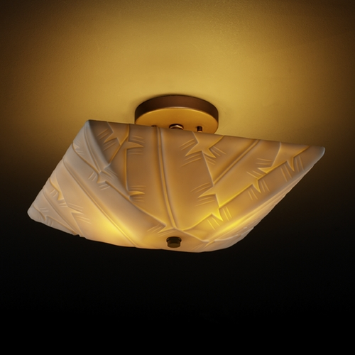 Justice Design Group Justice Design Group Porcelina Collection Semi-Flushmount Light PNA-9695-25-BANL-DBRZ