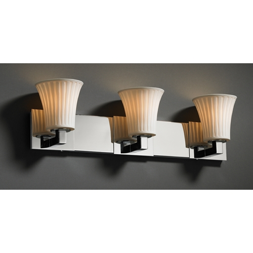 Justice Design Group Justice Design Group Limoges Collection Bathroom Light POR-8923-20-WFAL-CROM