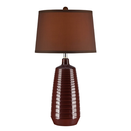 Lite Source Lighting Lite Source Lighting Ailani Coffee Table Lamp with Drum Shade LSF-22237COFFEE