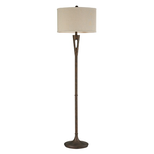 Dimond Lighting Dimond Lighting Burnished Bronze Floor Lamp with Oval Shade D2427