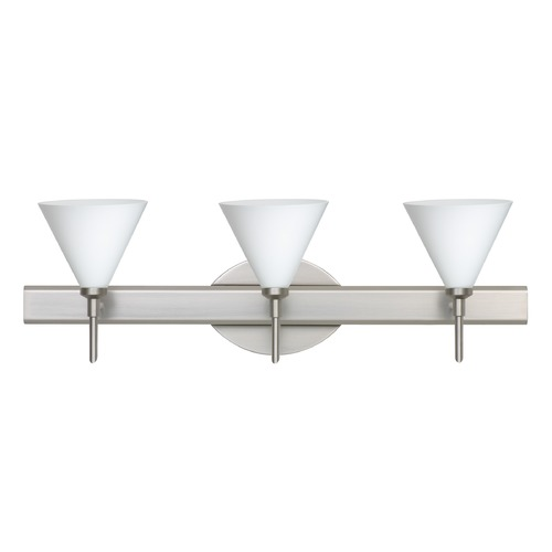 Besa Lighting Besa Lighting Kani Satin Nickel Bathroom Light 3SW-512107-SN