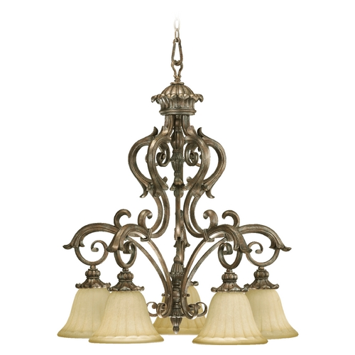 Quorum Lighting Quorum Lighting Barcelona Mystic Silver Chandelier 6400-5-58