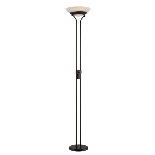 Lite Source Lighting Lite Source Black LED Torchiere Lamp with Bowl / Dome Shade LS-82646BLK