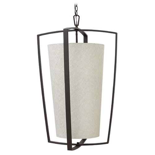 Hinkley Lighting Hinkley Lighting Blakely Buckeye Bronze Pendant Light with Cylindrical Shade 3796KZ