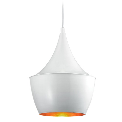 Elk Lighting Elk Lighting Sorenson Gloss White/silver Inside Pendant Light with Bowl / Dome Shade 17220/1