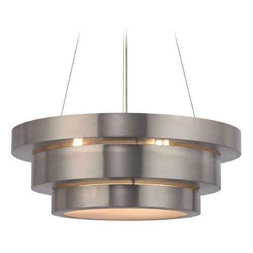 Elk Lighting Elk Lighting Layers Brushed Stainless Pendant Light 32225/3