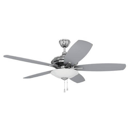 Craftmade Lighting 52-Inch Brushed Nickel Ceiling Fan with LED Light 3000K 1350LM JAM52BNK5-LED