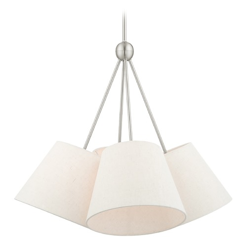 Livex Lighting Livex Lighting Prato Brushed Nickel Chandelier 41384-91