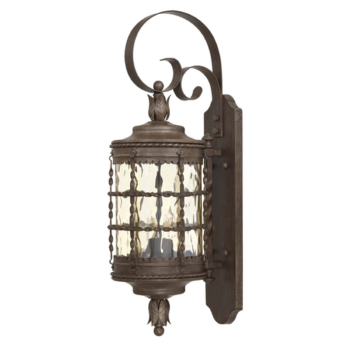 Minka Lavery Outdoor Wall Light with Clear Glass in Vintage Rust Finish 8881-A61