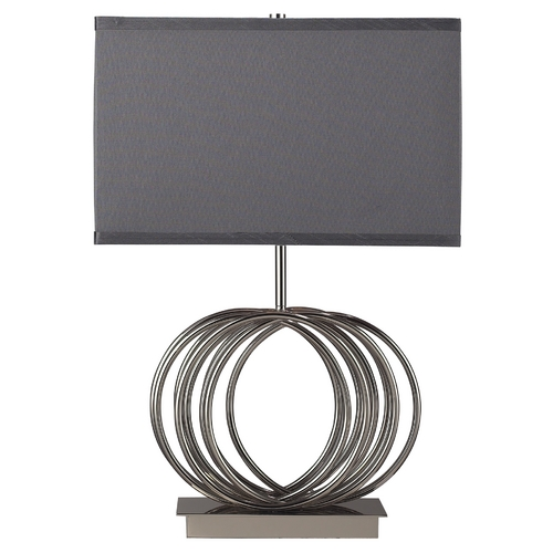 Elk Lighting Modern Table Lamp with Grey Shade in Chrome Finish D2057