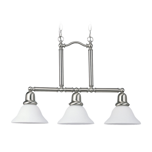 Sea Gull Lighting Island Light with White Glass in Brushed Nickel Finish 66061-962