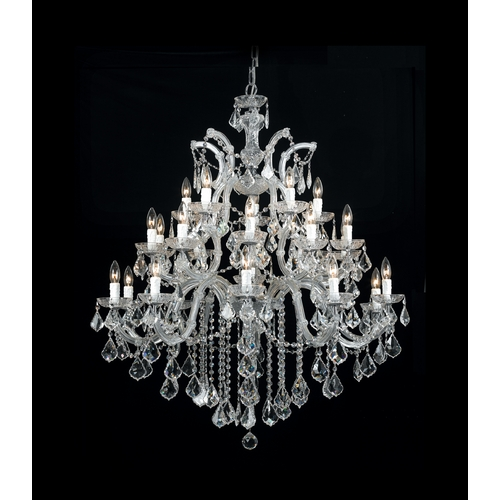 Crystorama Lighting Crystal Chandelier in Polished Chrome Finish 4470-CH-CL-S