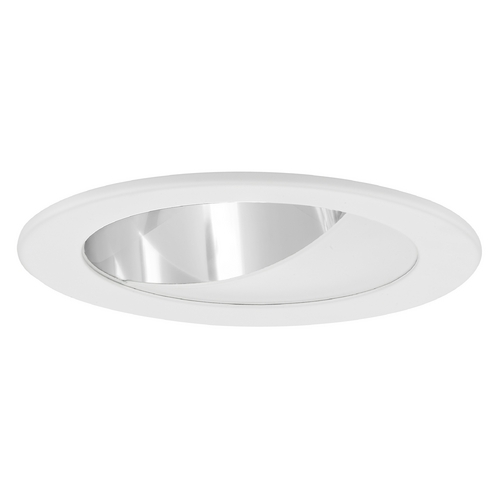 Recesso Lighting by Dolan Designs GU10 Clear Wall Washer LED Trim for 4-Inch Line and Low Voltage Recessed Cans T404C-WH