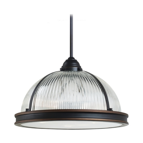 Sea Gull Lighting Pendant Light with Clear Glass in Autumn Bronze Finish 65062BLE-715