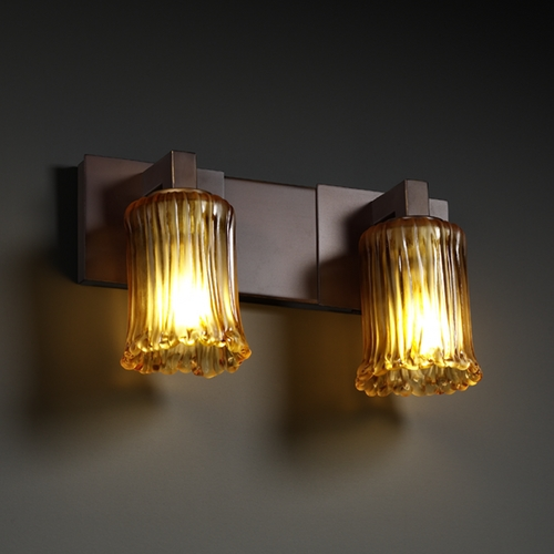 Justice Design Group Justice Design Group Veneto Luce Collection Bathroom Light GLA-8922-16-AMBR-DBRZ