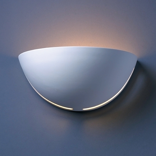 Justice Design Group Sconce Wall Light in Bisque Finish CER-1385-BIS
