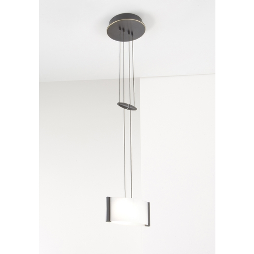Holtkoetter Lighting Holtkoetter Modern Low Voltage Mini-Pendant Light with White Glass 5701 HBOB GB50