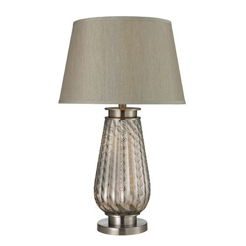 Dimond Lighting Dimond Lighting Smoked Glass, Brushed Steel Table Lamp with Empire Shade D2438
