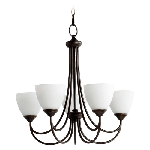 Quorum Lighting Quorum Lighting Brooks Oiled Bronze Chandelier 6050-5-86