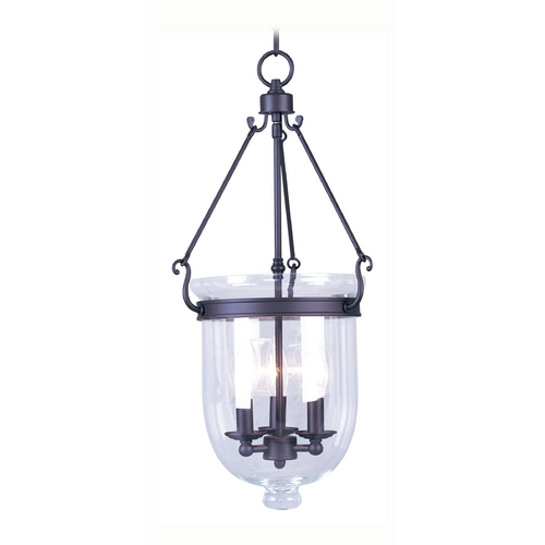 Livex Lighting Livex Lighting Jefferson Bronze Pendant Light with Bowl / Dome Shade 5064-07