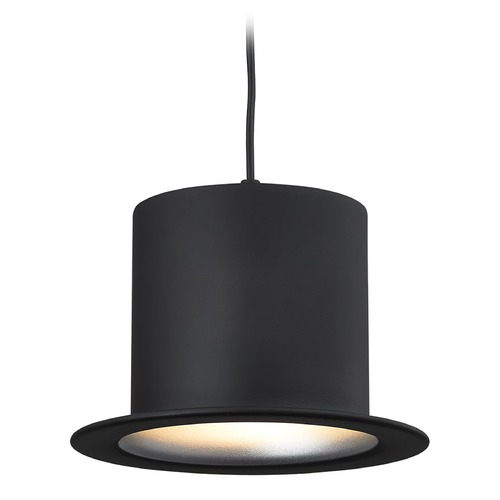 Elk Lighting Elk Lighting Chapeau Matte Black Pendant Light with Cylindrical Shade 17195/1