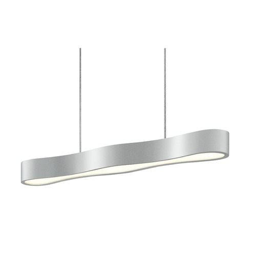 Sonneman Lighting Sonneman Corso Linear Bright Satin Aluminum LED Pendant Light   1733.16