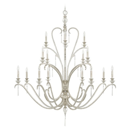 Capital Lighting Capital Lighting Celine Antique Silver Crystal Chandelier 4780AS-000