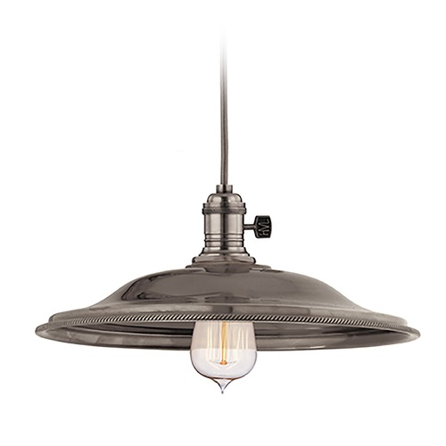 Hudson Valley Lighting Hudson Valley Lighting Heirloom Historic Nickel Pendant Light with Bowl / Dome Shade 8002-HN-MS2
