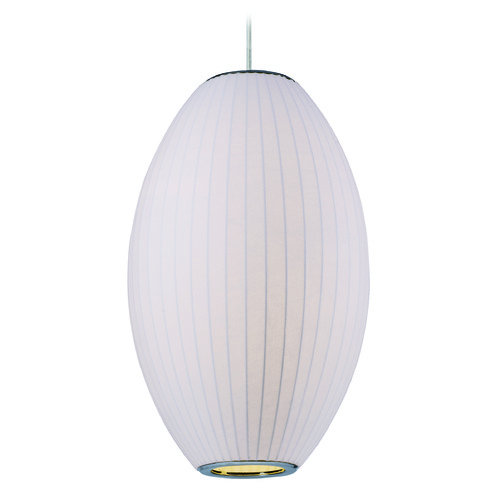 Maxim Lighting Maxim Lighting International Cocoon Polished Chrome Pendant Light with Oblong Shade 12188WTPC