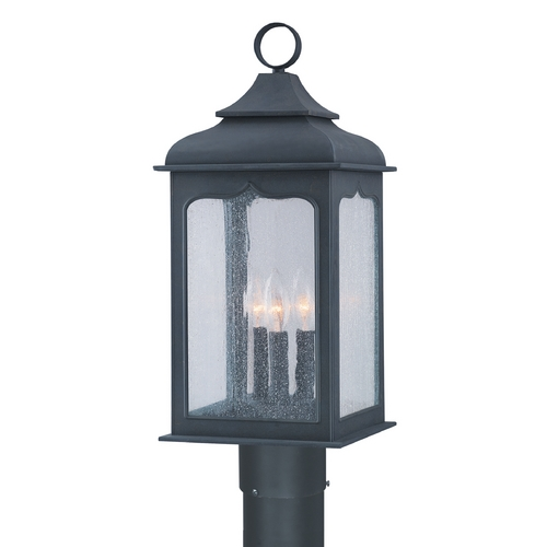 Troy Lighting Post Light with Clear Glass in Colonial Iron Finish P2015CI