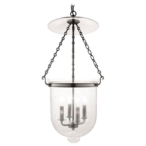 Hudson Valley Lighting Pendant Light with Clear Glass in Historic Nickel Finish 255-HN-C3