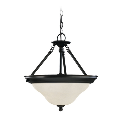 Sea Gull Lighting Pendant Light with White Glass in Heirloom Bronze Finish 66062-782