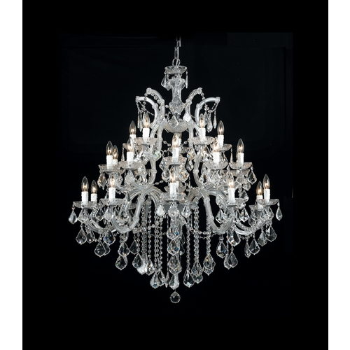 Crystorama Lighting Crystal Chandelier in Polished Chrome Finish 4470-CH-CL-SAQ