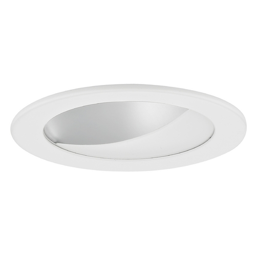 Recesso Lighting by Dolan Designs GU10 Satin Wall Washer LED Trim for 4-Inch Line and Low Voltage Recessed Cans T404S-WH