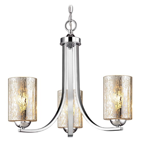 Design Classics Lighting Design Classics Dalton Fuse Chrome Mini-Chandelier 5843-26 GL1039C