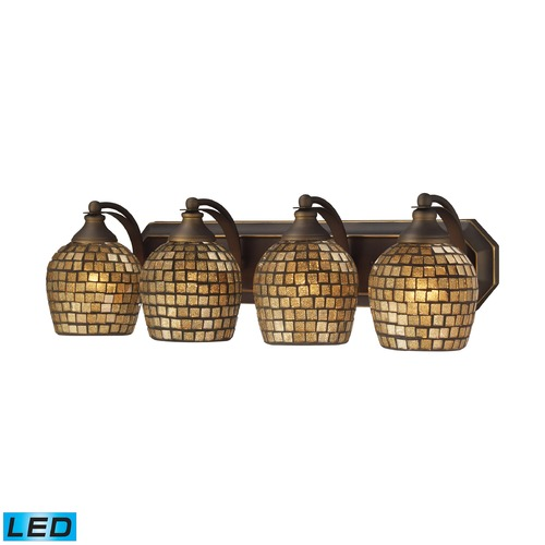 Elk Lighting Elk Lighting Bath and Spa Aged Bronze LED Bathroom Light 570-4B-GLD-LED