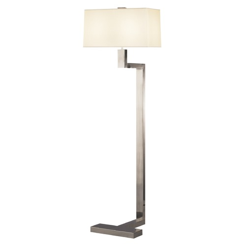 Robert Abbey Lighting Robert Abbey Doughnut Antique Silver Floor Lamp with Rectangle Shade 147