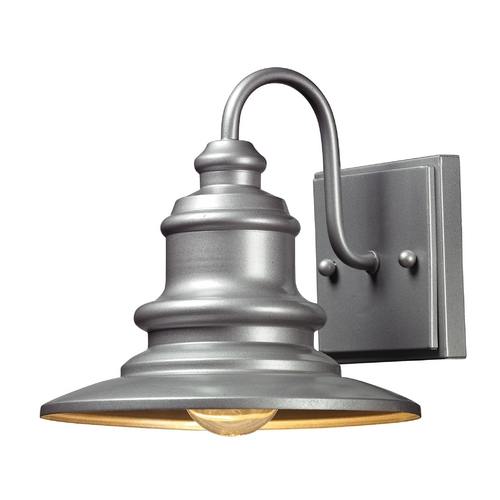 Elk Lighting LED Outdoor Wall Light in Matte Silver Finish 47020/1-LED